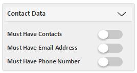 SalesOptimize Contact Data Filter