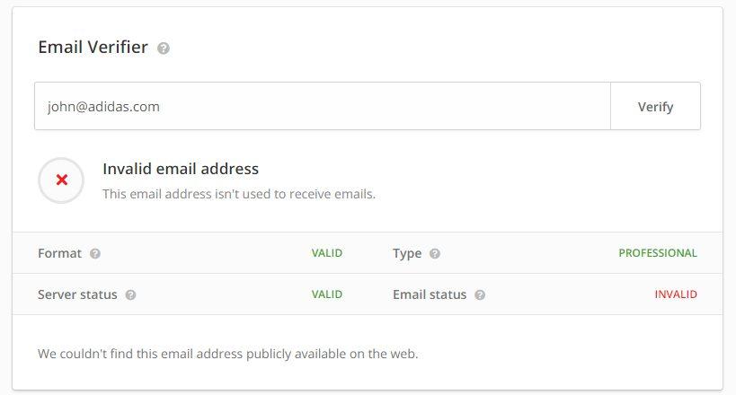 hunter email verifier