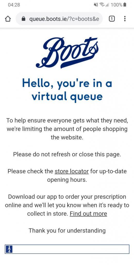 Boots eCommerce Queue